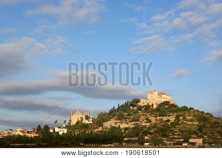 Arta Majorca Mallorca Balearic Islands Panorama Church Spain