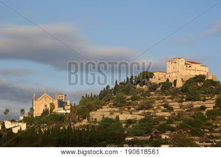 Arta Majorca Mallorca Balearic Islands Town Church Spain