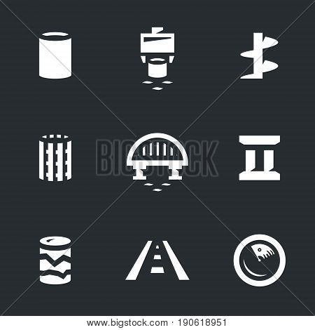 Pile, vibro-loader, drill, reinforcement, bridge, bridge support, pit, road, sonar.