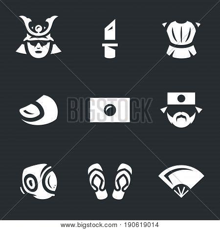 Samurai, knife, armor, finger, flag, sumo, kudo, slates, fan.