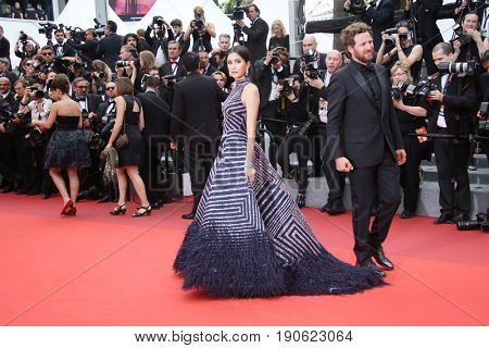 Praya Lundberg attends 'Amant Double (L'Amant Double')' Red Carpet Arrivals during the 70th annual Cannes Film Festival at Palais des Festivals on May 26, 2017 in Cannes, France.