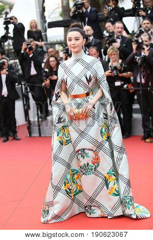 Fan Bingbing attends 'Amant Double (L'Amant Double')' Red Carpet Arrivals during the 70th annual Cannes Film Festival at Palais des Festivals on May 26, 2017 in Cannes, France.
