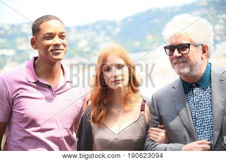 Will Smith, Jessica Chastain, Pedro Almodovar  attend the Mayor's Aioli during the 70th annual Cannes Film Festival at Palais des Festivals on May 26, 2017 in Cannes, France.