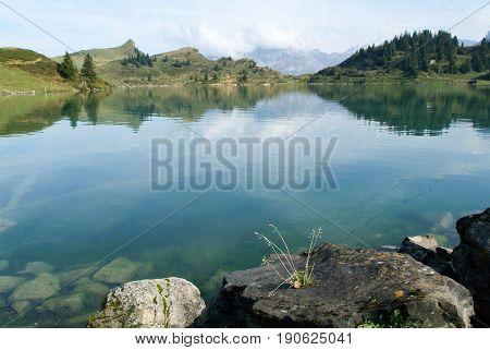 Trubsee Lake Is A Mountain Lake At Engelberg