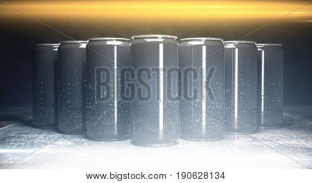 Blank Aluminium Soda Cans Front