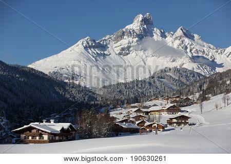Alpine village in the Austrian Alps. Salzburger land, Filzmoos