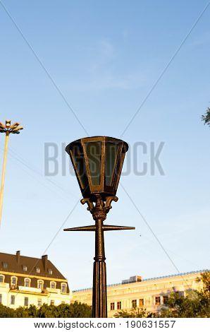Street Light. Vintage Lantern. Rhomboid Lantern.