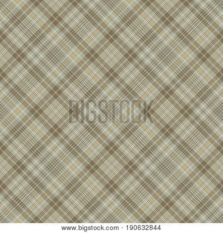 Tartan Seamless Pattern Background. Brown Yellow Gray and White Plaid Tartan Flannel Shirt Patterns. Trendy Tiles Vector Illustration for Wallpapers