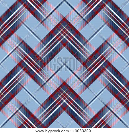 Tartan Seamless Pattern Background. Red Blue and White Plaid Tartan Flannel Shirt Patterns. Trendy Tiles Vector Illustration for Wallpapers.