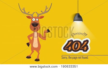 404 connection error with Christmas concept light hanging down. Vector illustration