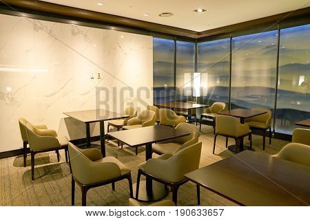 INCHEON, SOUTH KOREA - CIRCA JUNE, 2017: Sky hub lounge at Incheon International Airport.