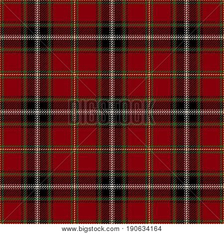 Tartan Seamless Pattern Background. Red Black Green Yellow and White Plaid Tartan Flannel Shirt Patterns. Trendy Tiles Vector Illustration for Wallpapers
