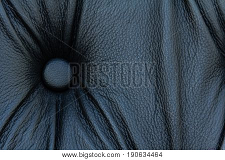 Black genuine leather sofa pattern as background image