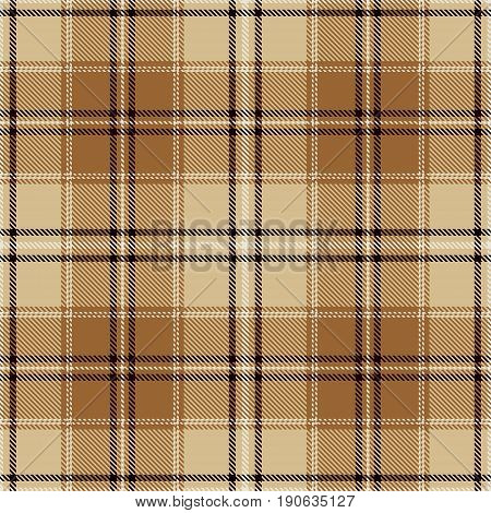 Tartan Seamless Pattern Background. Beige Brown Black and White Plaid Tartan Flannel Shirt Patterns. Trendy Tiles Vector Illustration for Wallpapers.