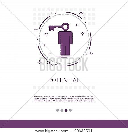 Worker Potential Skills Web Banner With Copy Space Vector Illustration
