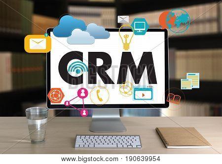 Business Customer Crm Management Analysis Service Concept , Customer Relationship Management