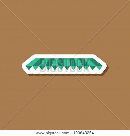 paper sticker on stylish background Roof awning