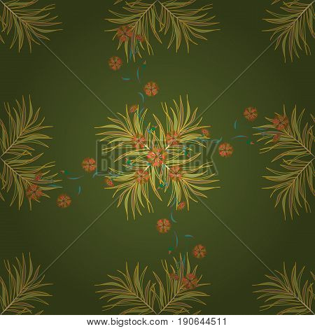 Varicolored vector seamless illustration. Tropical seamless pattern with many abstract leaves.