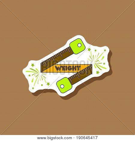 paper sticker on stylish background Weight loss logo