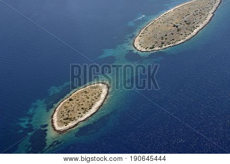 National park Kornati Kornati archipelago Adriatic sea in Croatia