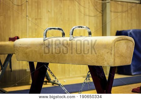 Old Gymnastic equipment in a gym in the Faroe Islands