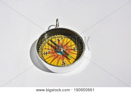 Compass. A reliable navigation tool on a white background.