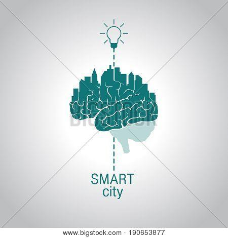 City - brain, the concept of smart city, using modern innovative technology, advanced intelligent services