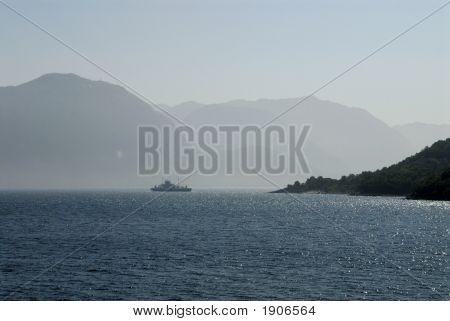 Boat In Lysefjord