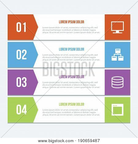Creative business concept of stage, parts, steps. Business infographic elements. Infographics template. Infographic elements concept. Time line stage.