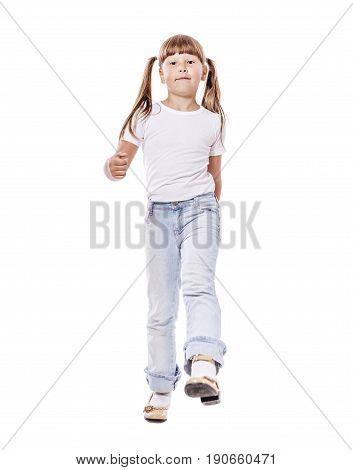 Girl Walk Forward