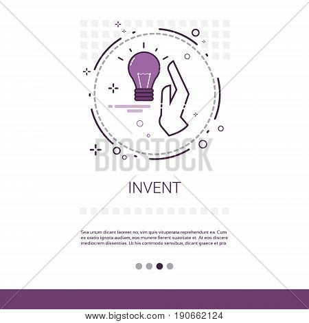 Invent New Idea Inspiration Creative Process Business Web Banner With Copy Space Vector Illustration