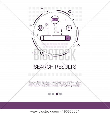 Search Result Web Data Banner With Copy Space Vector Illustration