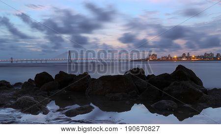 Night Photography long exposure Shot in Mumbai Sunset