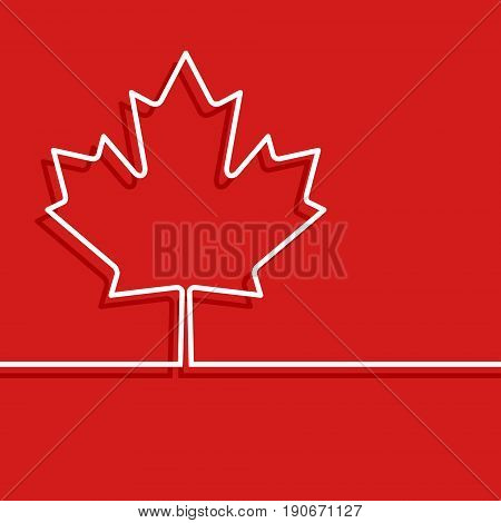 Canadian maple leaf symbol. Design for Canada thanksgiving day, cover brochures, flyer, greeting card template. Vector illustration.
