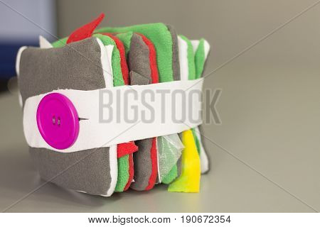 Colorful hand made quite book for small children.