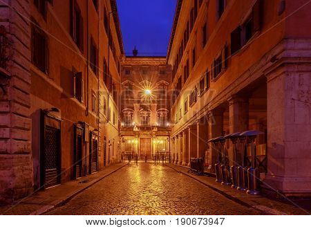 The famous square Navona at dawn. Rome. Italy