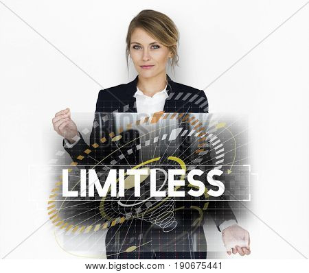 Dare to dream limitless motivation inspire to success graphic