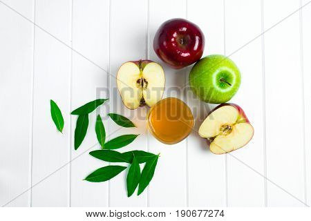 Apples On A Wooden Background