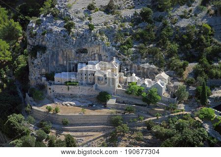 Blaca medieval glagolitic hermitage on Brac Island Croatia