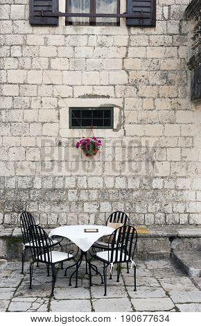 Old ancient city taverna - bar, Kotor, Prcanj