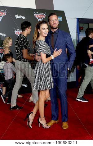 LOS ANGELES - JUN 10:  Elizabeth Chambers Hammer, Armie Hammer at the