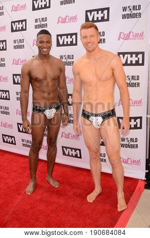 LOS ANGELES - JUN 9:  Pit Crew at the RuPauls Drag Race Season 9 Finale Taping at the Alex Theater on June 9, 2017 in Glendale, CA