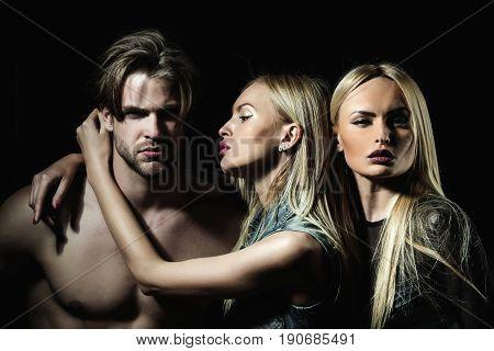 Boyfriend With Two Pretty Girlfriends