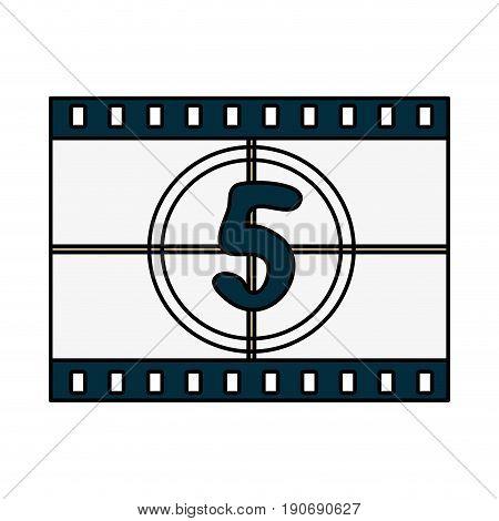 Countdown film over white background vector illustration