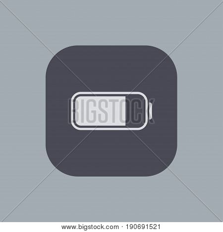 Vector modern battery icon on gray background
