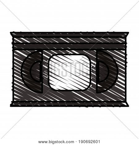 VHS casette over white background vector illustration