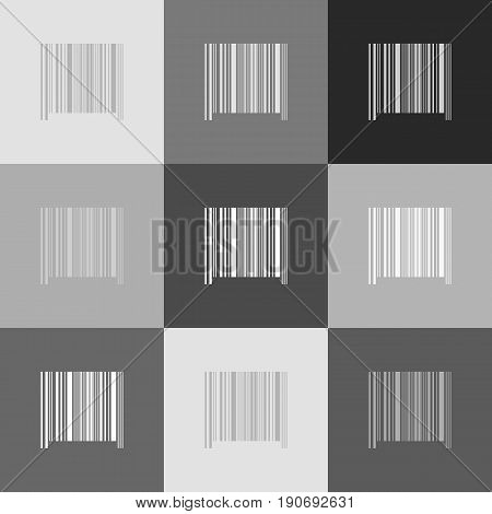 Bar code sign. Vector. Grayscale version of Popart-style icon.