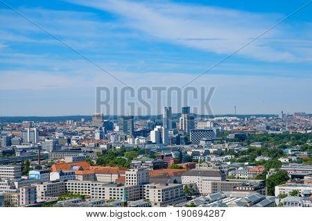 Skyline Of West Berlin,  Cityscape / Aerial Of Berlin