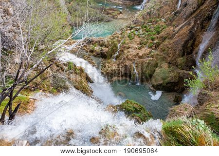 Lots of waterfalls from Plitvice Lakes National Park Croatia