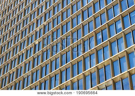 Modern Office Building Facade , Skyscraper Exterior